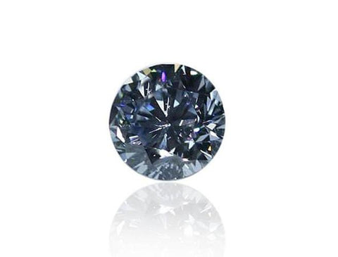 Natural Loose Round Fancy Vivid Blue Diamond