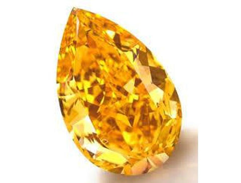Natural Loose Fancy Vivid Orange Diamond