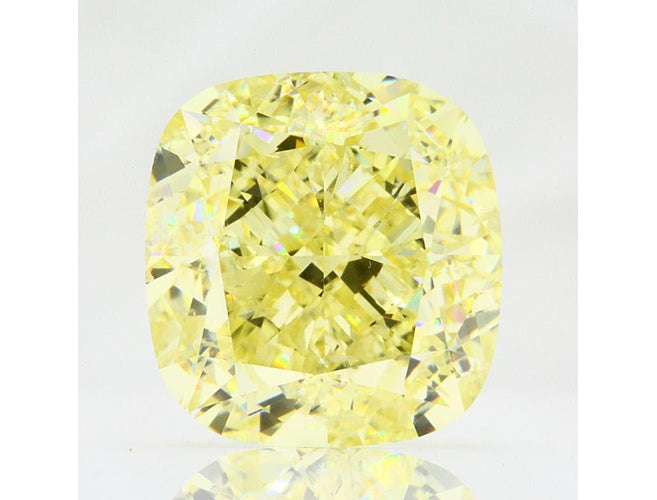 Cushion, 10.01 Carat, Fancy Yellow, I1. Natural Yellow Diamond