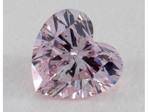 Heart 0.40 Carat Fancy Purple-Pink I1.-ColorDiamondsNet