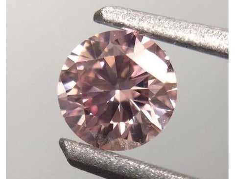 Round 0.23 Carat Fancy Pink SI1 Loose Diamond-ColorDiamondsnet
