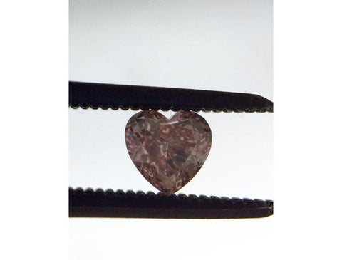Argyle, Heart, 0.26 Carat, Fancy Intense Pink, SI1. Natural Loose Diamond, Color-Diamonds.Net