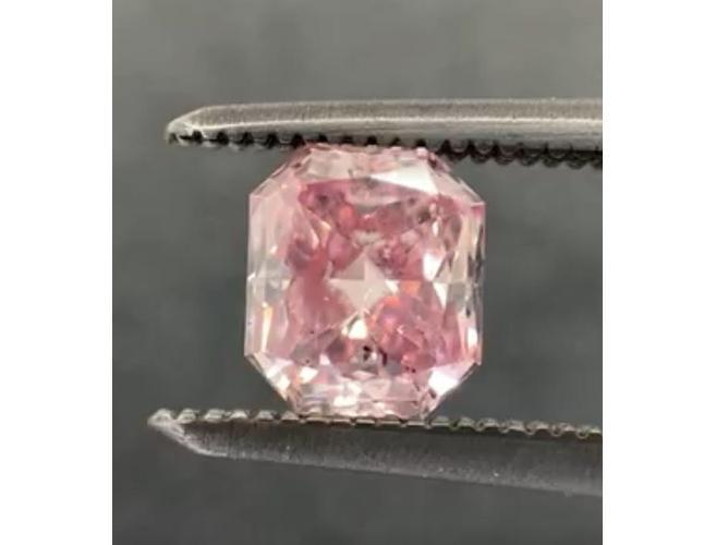 Argyle Radiant 0.61ct. Fancy Intense Purple Pink SI2 Diamond