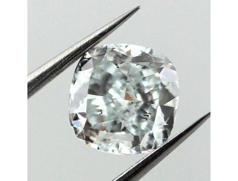 Cushion, 0.85 Carat, Fancy Light Greenish Blue, SI1, Natural Loose Diamond - Color-Diamonds.Net