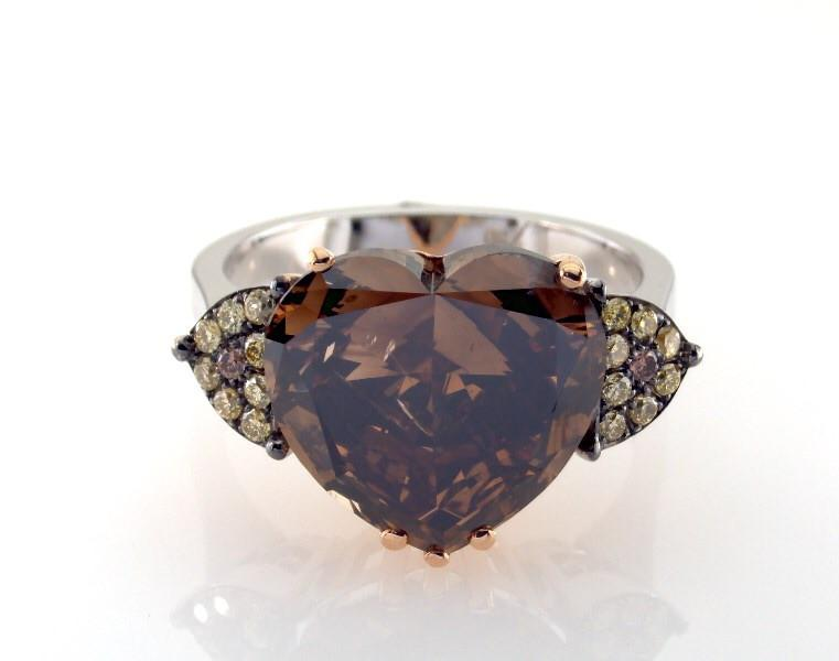 Natural Fancy Dark Brown Diamond.