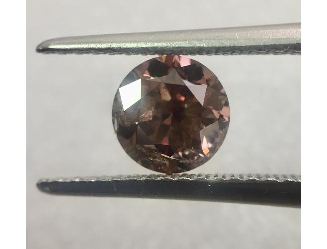 GIA Round 1.02ct. Fancy Dark Pink Brown Natural Diamond