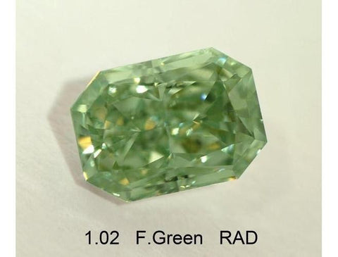 Radiant Shape 1.02 Carat Fancy Intense Green-ColorDiamondsNet