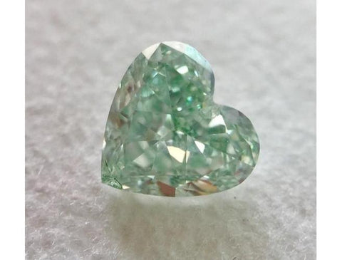 Heart 0.53 Carat Fancy Green SI1-ColorDiamondsNet