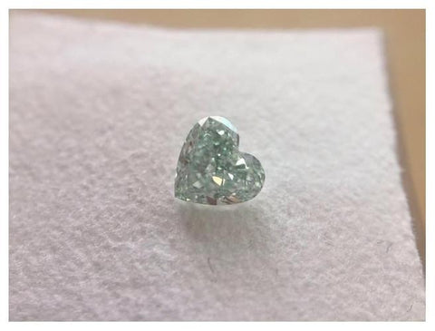 Heart Shape 0.53 Carat Fancy Green SI1-ColorDiamondsNet