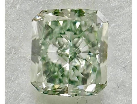 Radiant 0.76 Carat Fancy Green SI1-ColorDiamondsNet