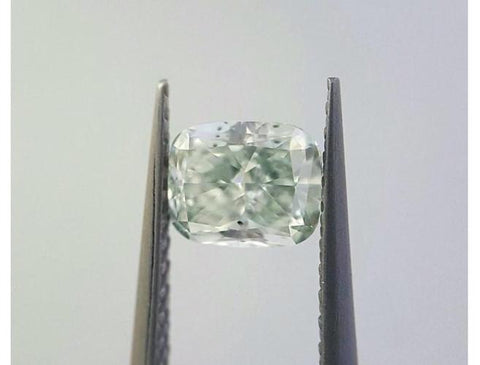 Cushion 0.60 Carat Fancy Green VS2-ColorDiamondsNet
