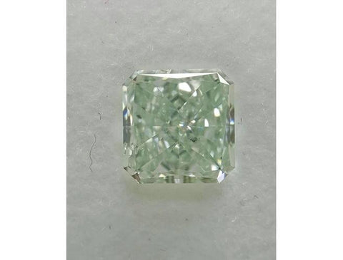 Radiant 0.97 Carat Loose Fancy Light Green SI2-ColorDiamondsNet