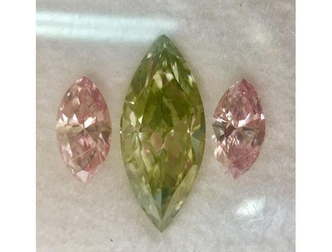 Marquise, 1.01 Carat, Fancy Grayish Yellowish Green, SI1. Natural Loose Diamond - DahanCollection.Com