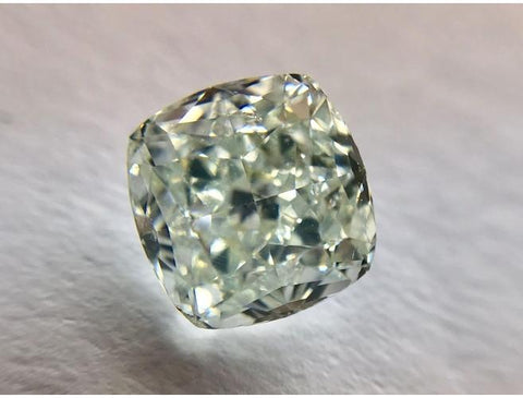 Radiant, 1.46 Carat, Fancy Light Green, SI2. Natural loose Color Diamond, Color-Diamonds.Net