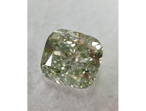 Cushion, 2.04 Carat, Fancy Green, I1. Natural Loose Fancy Color Diamond | Color-Diamonds.Net