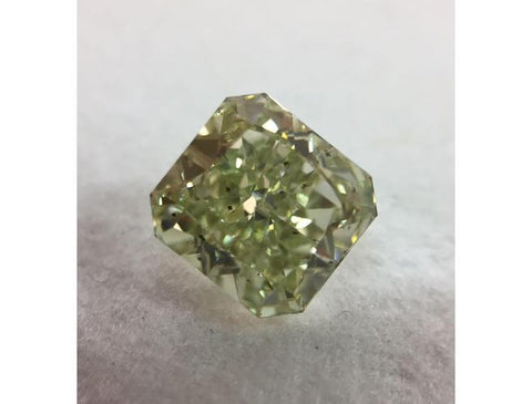 Radiant, 2. This 25 Carat, Fancy Yellow Green, SI2. Natural Fancy Color  Diamond. Color-Diamonds.Net