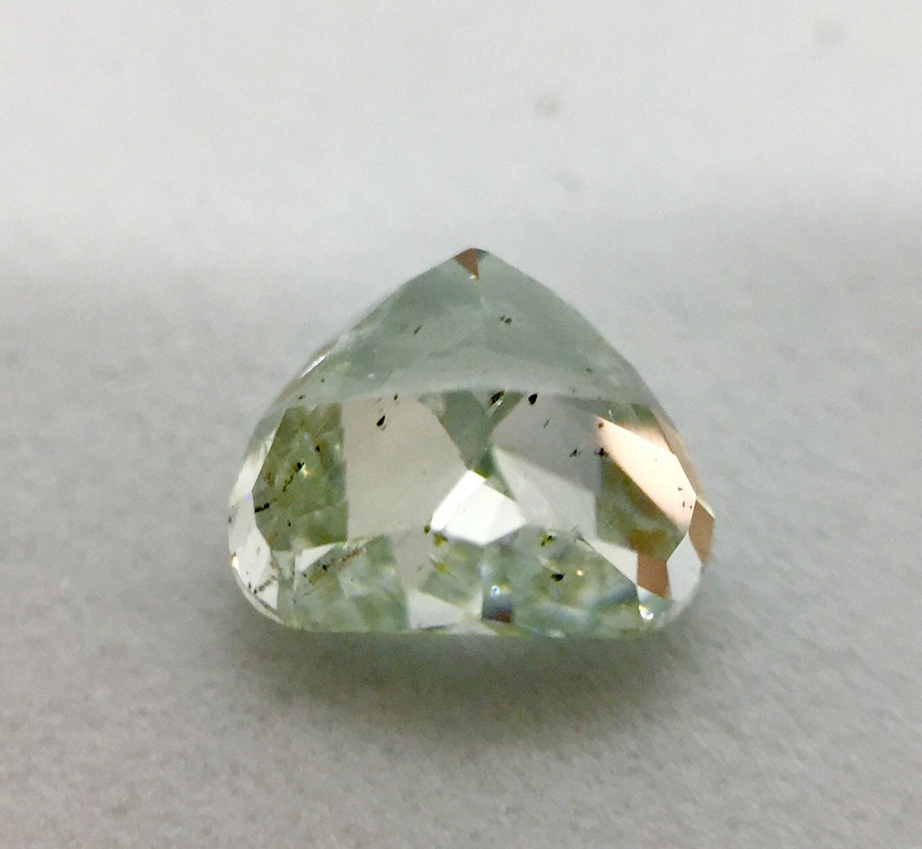 GIA Heart 0.99ct. Fancy Light Green SI2. Natural Loose Colour Diamond