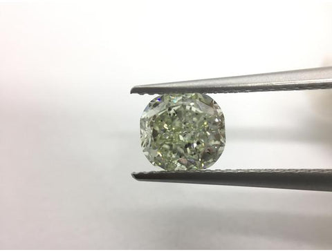 Cushion, 1.59 Carat, Fancy Light Green | DahanCollection.Com
