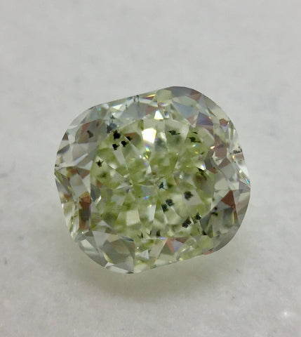 GIA Cushion 1.59ct. Fancy Light Green