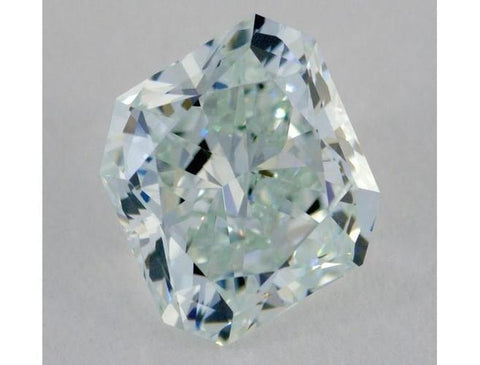 Radiant 1.71 Carat Fancy Light Bluish Green Internally Flawless-ColorDiamondsNet