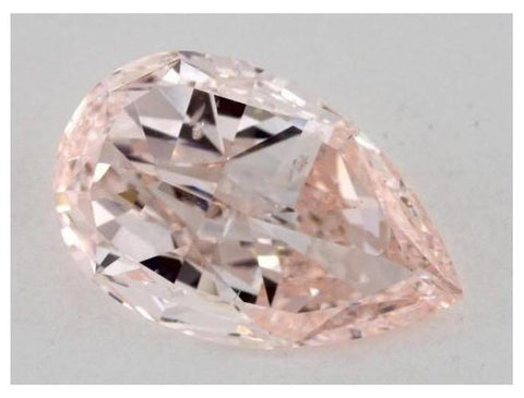 Pear 1.01ct. Fancy Pinkish Orange SI2-ColorDiamondsNet