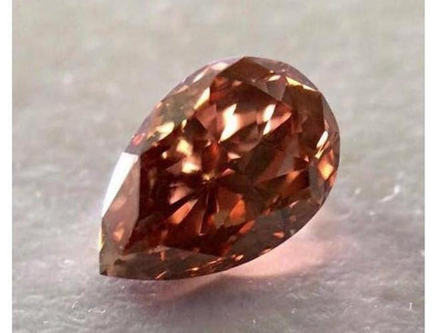 Pear 0.57 Carat Fancy Deep Pink VS2-ColorDiamondsNet