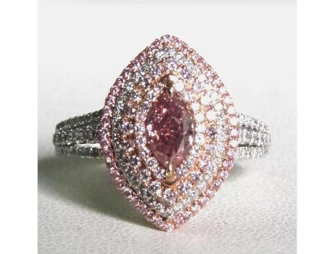 Marquise 0.65ct. Fancy Intense Pink VS1-ColorDiamondsNet
