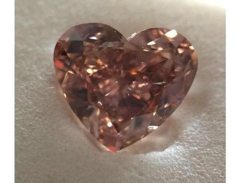 Heart 1.45 Carat Fancy Deep Brownish Orangey Pink SI1-ColorDiamondsNet