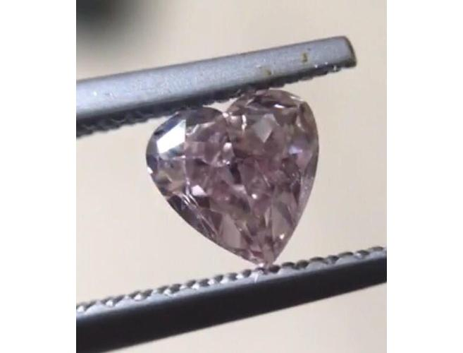 Heart, 0.47 Carat, Fancy Purple Pink Natural Loose Diamond-ColorDiamondsNet