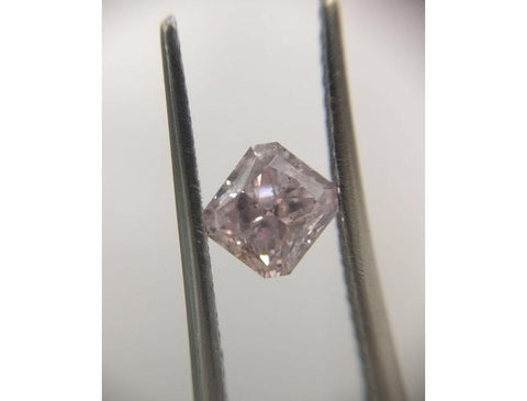 Radiant, 0.71 Carat, Fancy Purple Pink, SI2. Natural Loose Diamond - Color-Diamonds.Net