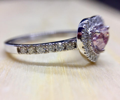 Heart, 0.50 Carat, Fancy Intense Pink, I1. | DahanCollection.Com