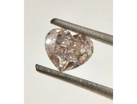 Heart, 0.72 Carat, Fancy Brown Pink SI1. Natural Loose Color Diamond
