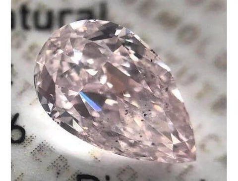 Pear, 0.53 Carat, Fancy Pink, SI2. Natural Loose Fancy Color Diamond. Color-Diamonds.Net