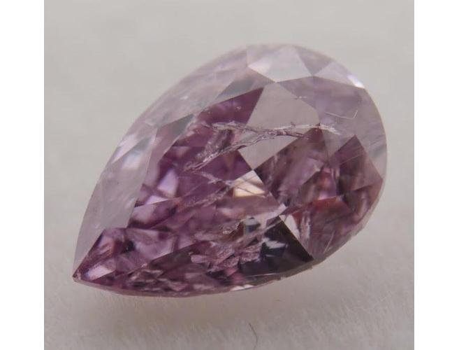 GIA Pear 0.52ct. Fancy Deep Purple Pink. Natural Loose Color Diamond