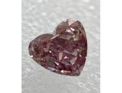 Heart, 0.31 Carat, Fancy Deep Purplish Pink, si1. Natural Loose Diamond