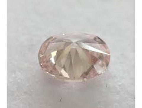 Oval, 0.50 Carat, Fancy Light Orangy Pink, SI1. DahanCollection.Com