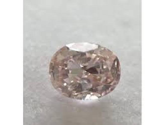 Oval, 0.50 Carat, Fancy Light Orangy Pink, SI1. Color-Diamonds.Net