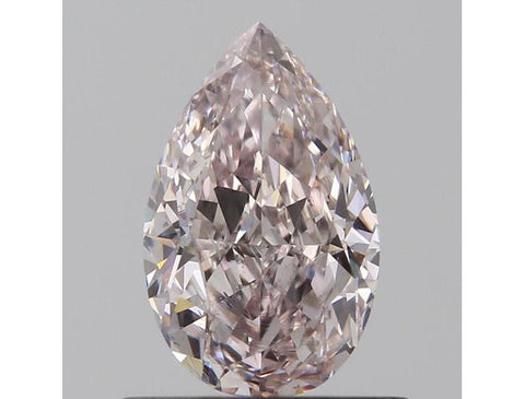 Pear, 0.59 Carat, Fancy Light Pink, Si1. Natural Pink Diamond.