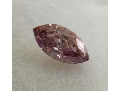 Marquise, 0.26 Carat, Fancy Intense Pink Purple, I1.