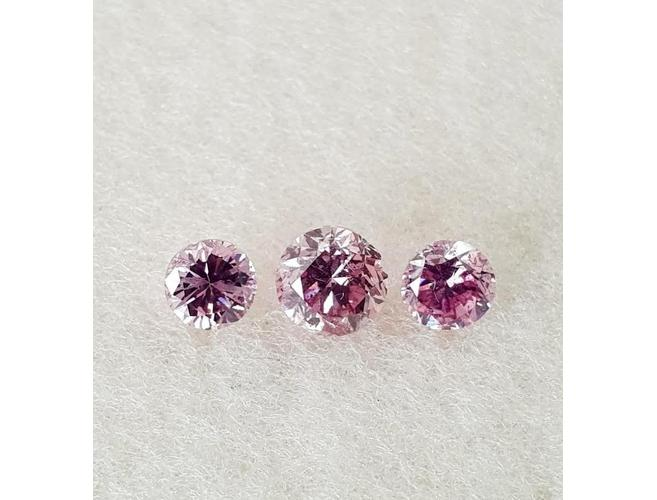 Round, 0.60 Total Carat Weight, Fancy Intense Purplish Pink Set