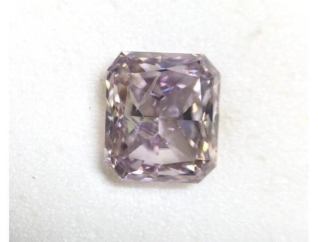 Radiant 0.68 Carat Fancy Pink Purple I1 Loose Diamomd-ColorDiamondsNet