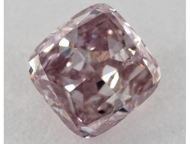 Cushion 0.74 Carat Fancy Purplish Pink SI2 Diamond-ColorDiamondsNet