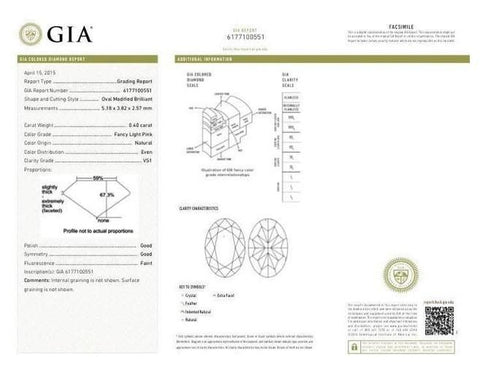 Oval 0.40 Carat Fancy Light Pink VS1 GIA Cert-ColorDiamondsNet