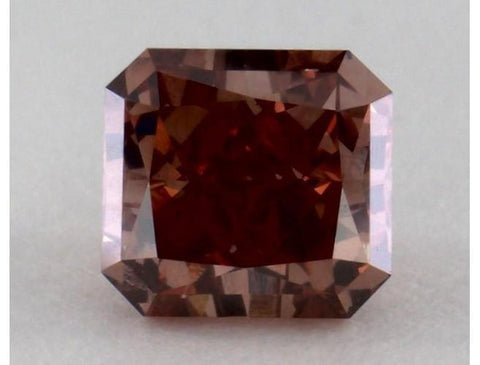 Radiant 0.70 Carat Fancy Deep Orangy Pink VS1-ColorDiamondsNet