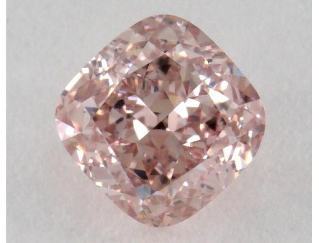 Cushion 0.78 Carat Fancy Orangy Pink VVS2-ColorDiamondsNet
