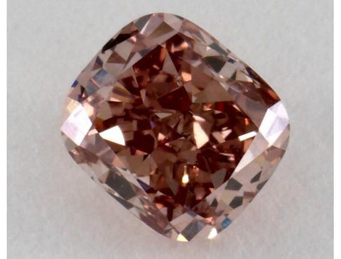 Cushion 0.67 Carat Fancy Deep Orangy Pink SI1-ColorDiamondsNet