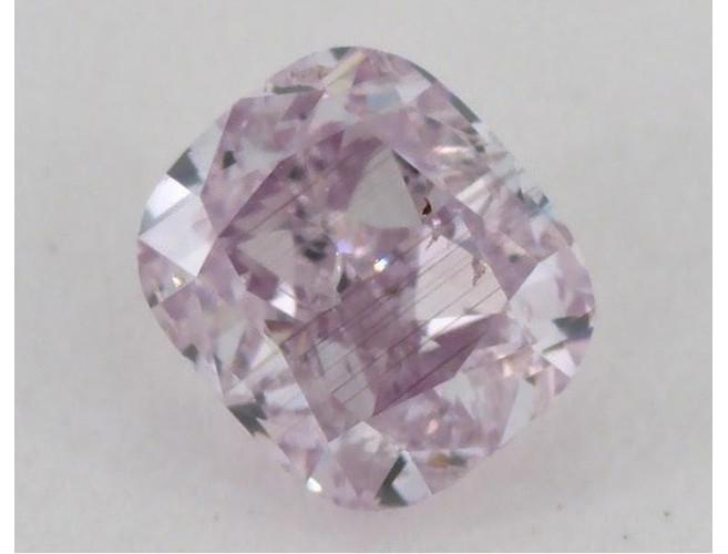 Cushion 0.42 Carat Fancy Pink Purple I1-ColorDiamondsNet