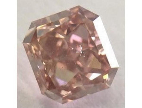 Radiant 0.45ct. Fancy Orangy Pink SI1.-ColorDiamondsNet