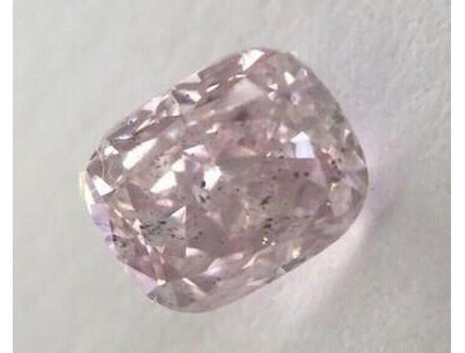 Cushion 0.51 Carat Fancy Pink-Purple I1.-ColorDiamondsNet