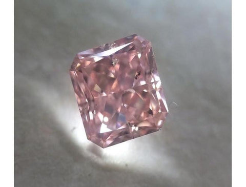 Radiant 0.62 Carat Fancy Intense Pink SI2-ColorDiamondsNet